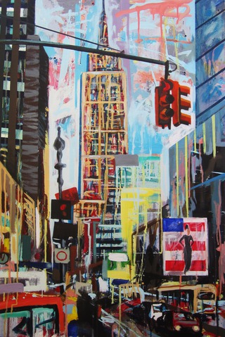 Empire State,90 x 60 cm. SOLD