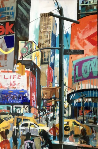 47th Avenue Manhattan, acrylic on canvas 90 x 60cm