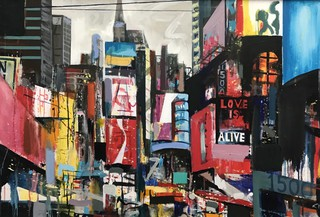 Times Square, acrylic on canvas 90 x 60cm